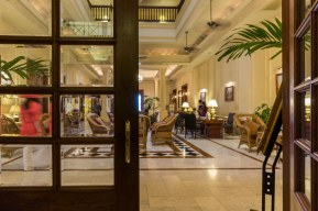 5. the lobby of the Strand Hotel in Yangon